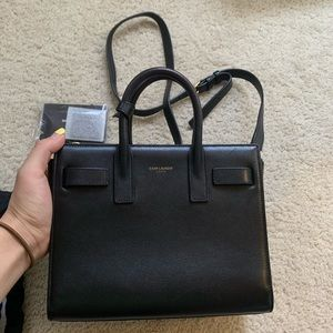 Authentic Saint Laurent sac de jour nano black